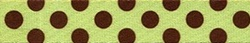 Green and Brown Polka Dot Ding Dog Bell