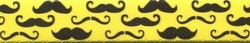 Moustaches On Yellow Keychain