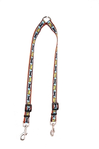 Black and Yellow Dog Coupler Lead