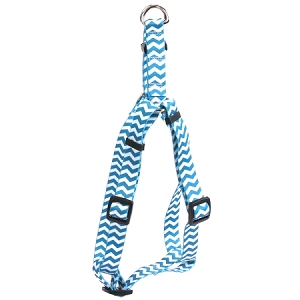 Chevron - Blueberry Step-In Harness