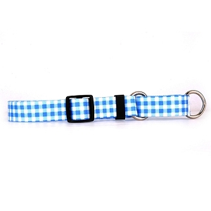 Gingham Blue Martingale Collar