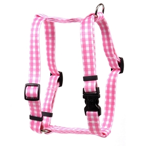 Gingham Pink Roman H Harness