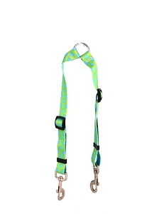 Green and Brown Polka Dot Coupler Lead