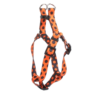 Halloween Polka Dot Step-In Harness