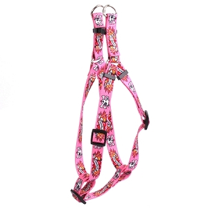 I Luv My Dog Pink Step-In Harness