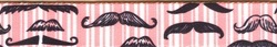 Moustaches & Stripes - Pink