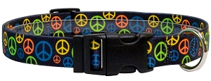 Neon Peace Signs Standard Collar