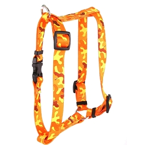 Orange Camo Roman H Harness