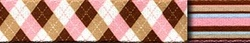 Pink & Brown Argyle