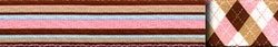 Pink and Brown Stripes Standard Collar