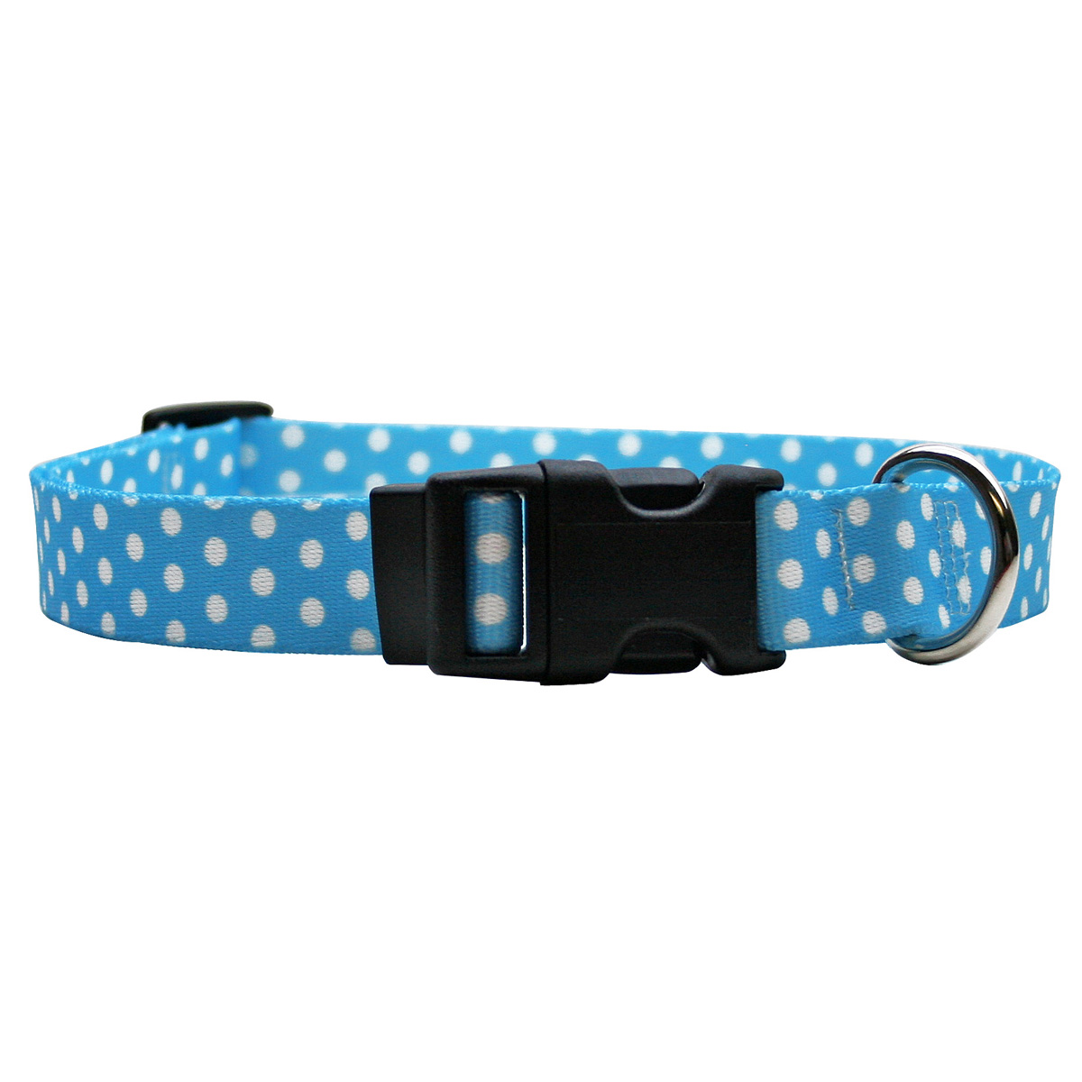 New Blue Polka Dot Standard Collar