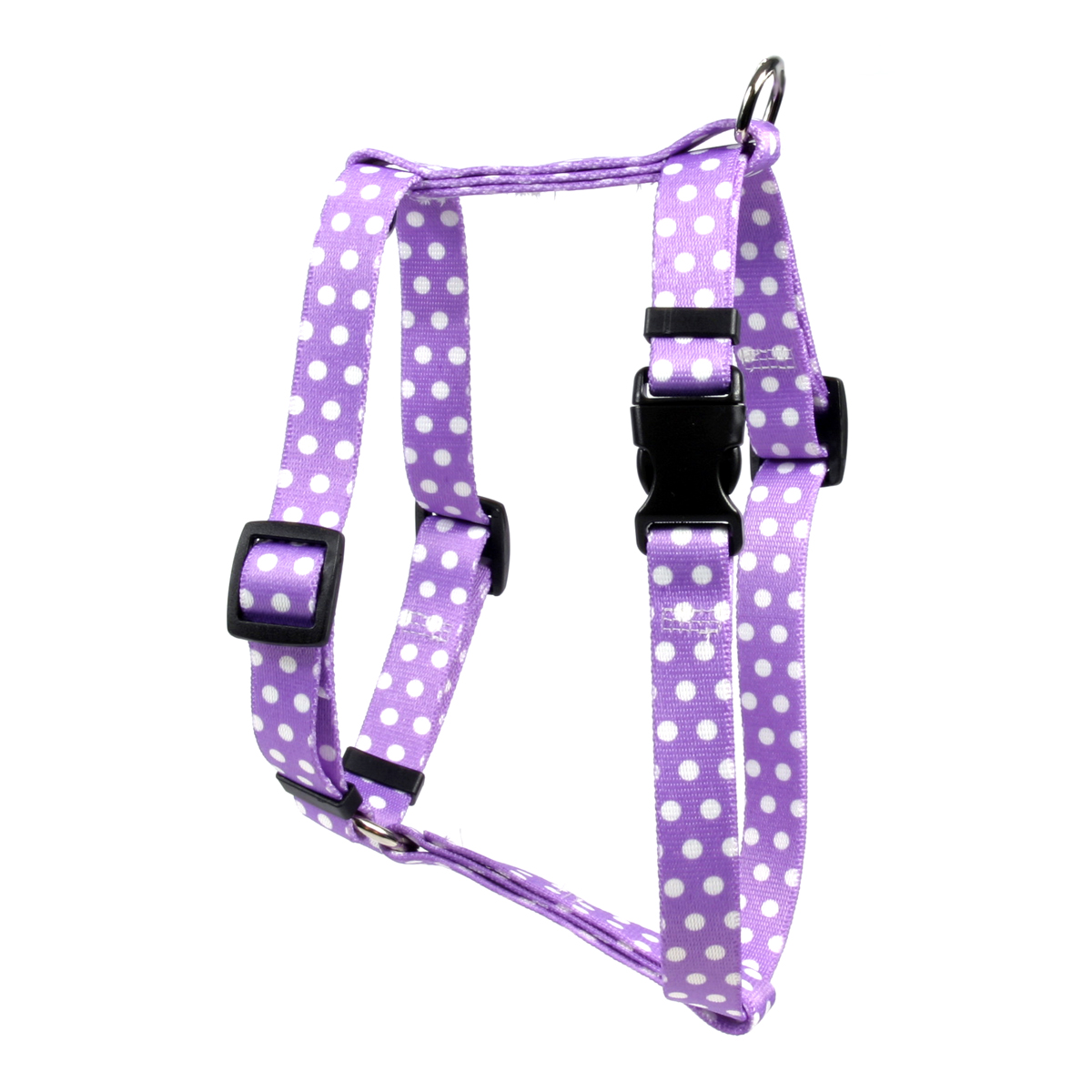 New Purple Polka Dot Roman H Harness