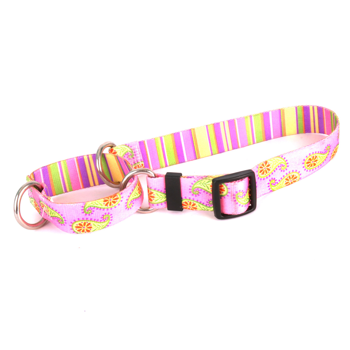 Pink Paisley Martingale Collar