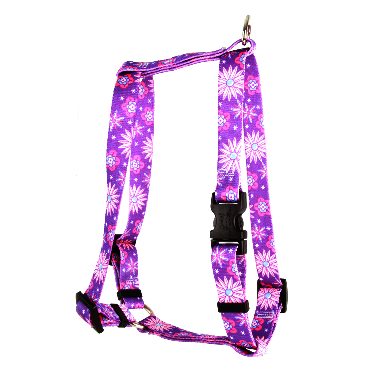 Purple Flowers Roman H Harness