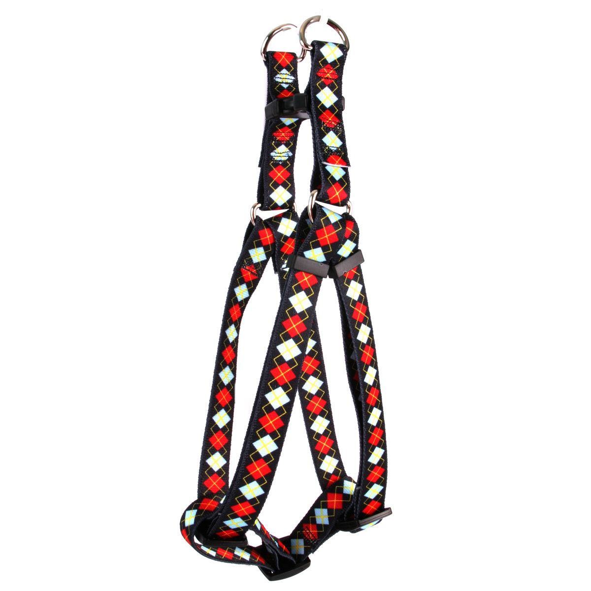Red Argyle Step-In Harness