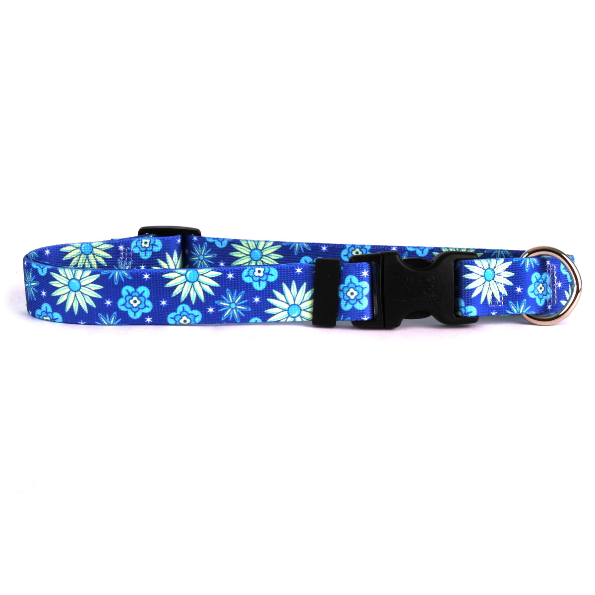 Teal Flowers Standard Collar