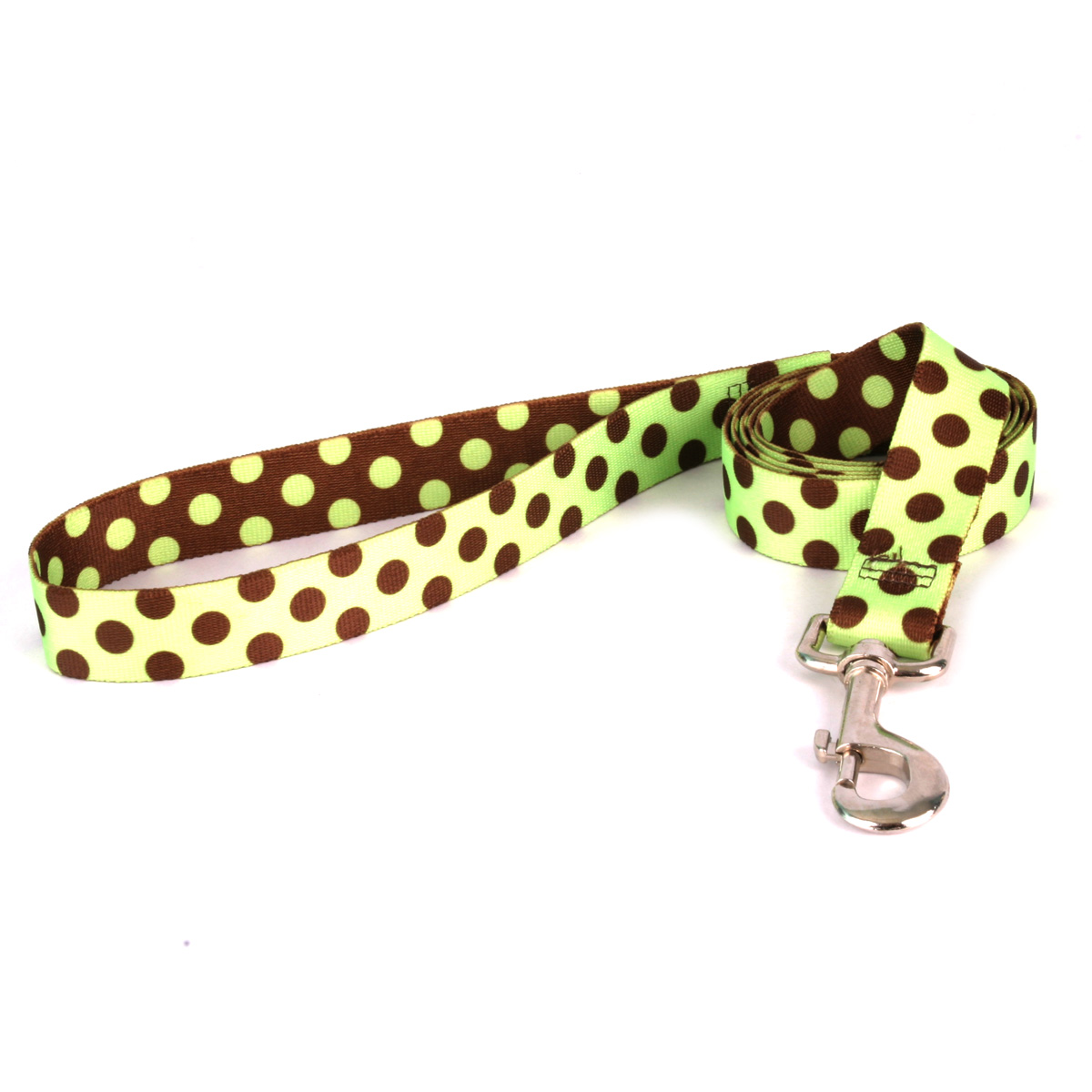 Green and Brown Polka Dot Lead