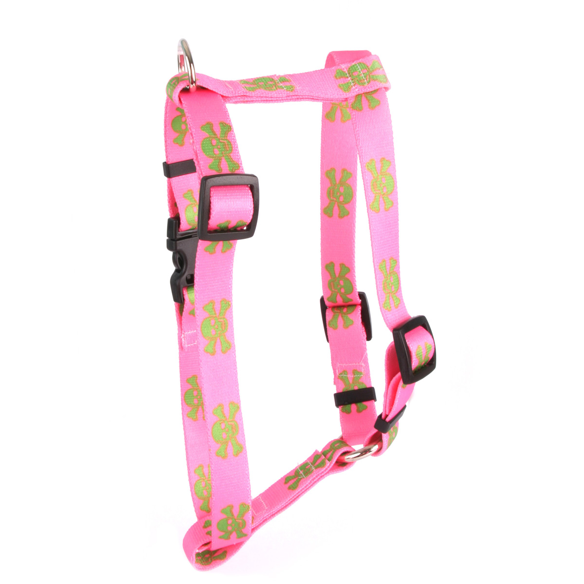 Pink and Green Skulls Roman H Harness