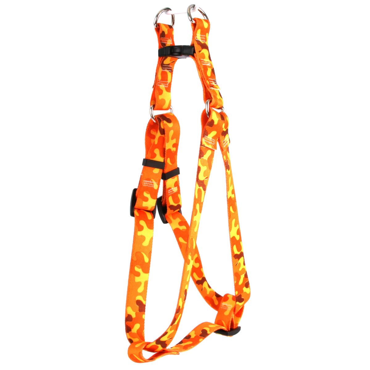Orange Camo Step-In Harness