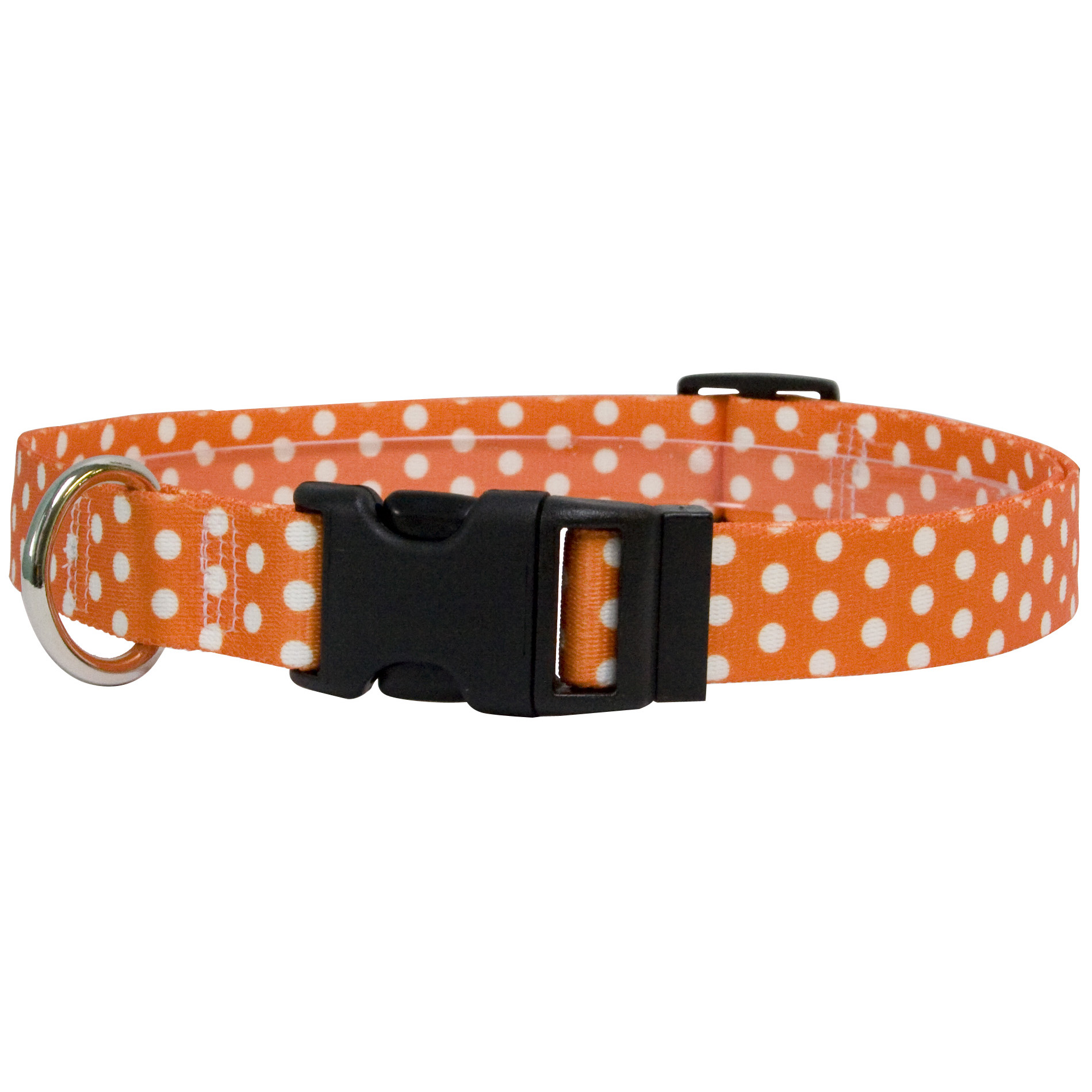 Orange Polka Dot Standard Collar