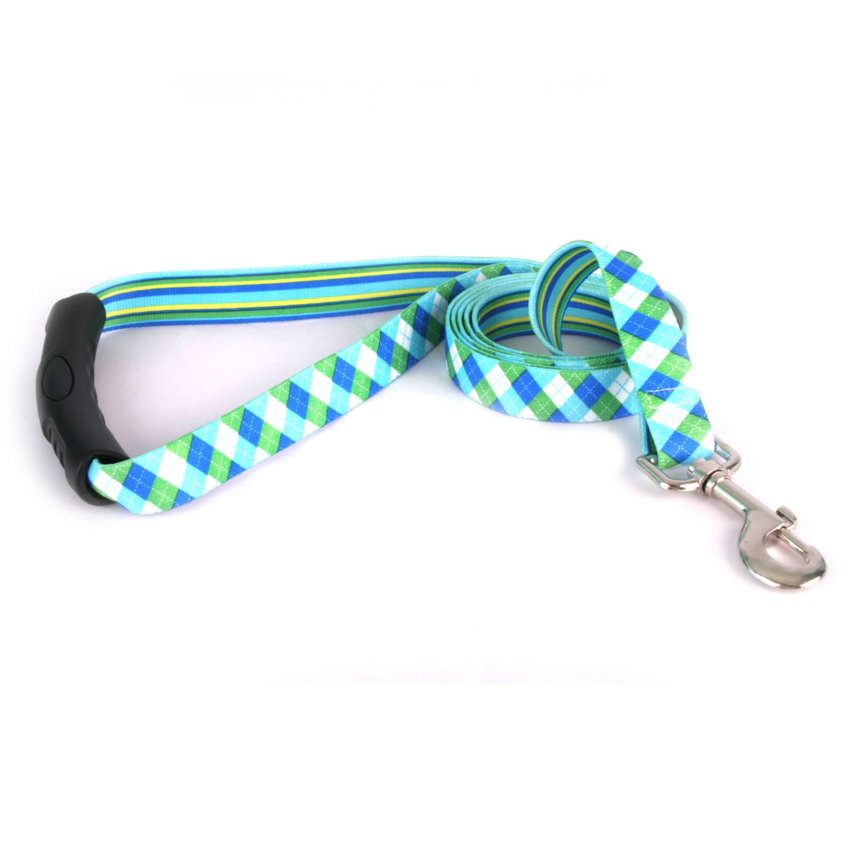 Blue and Green Argyle EZ-Lead