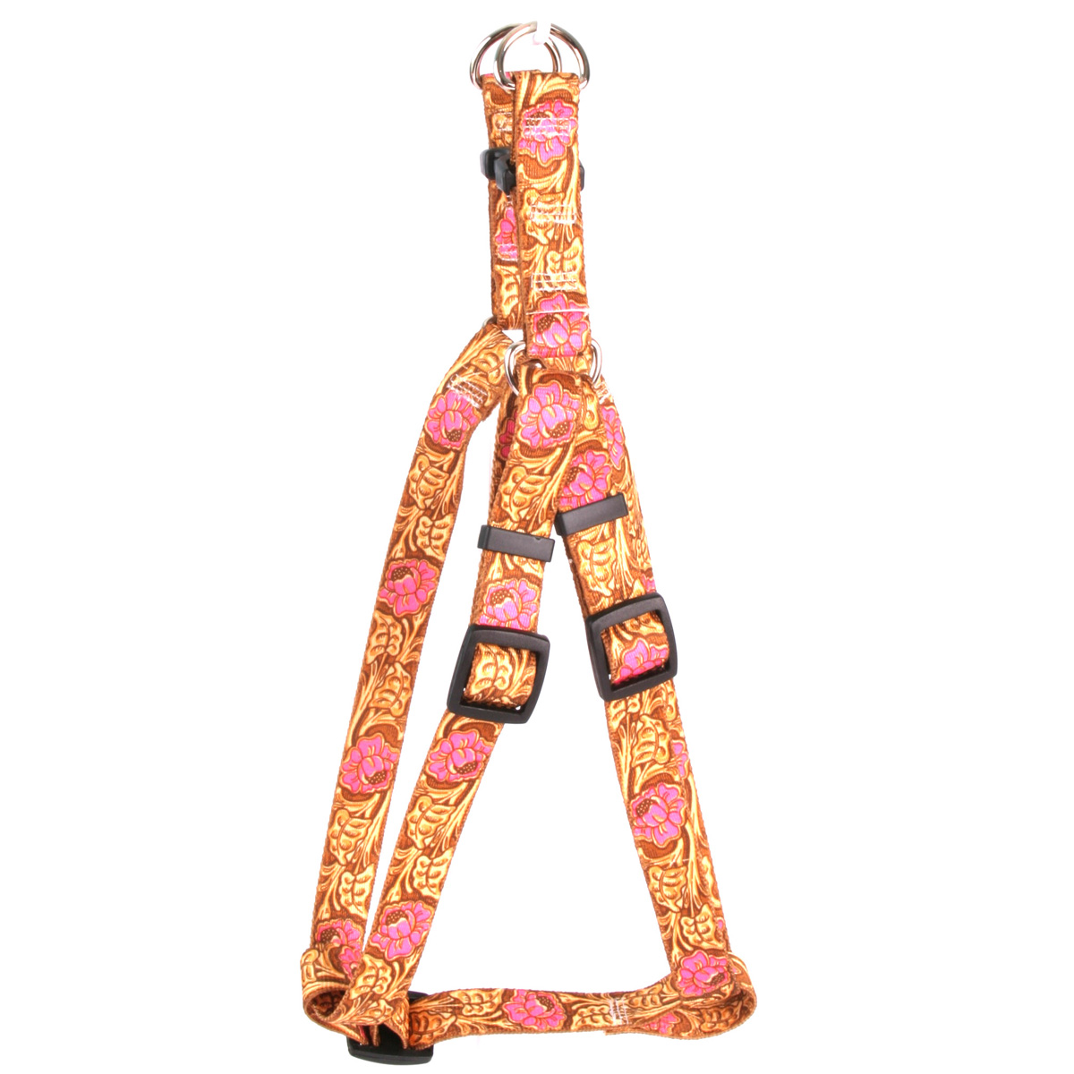 Leather Rose Pink Step-In Harness