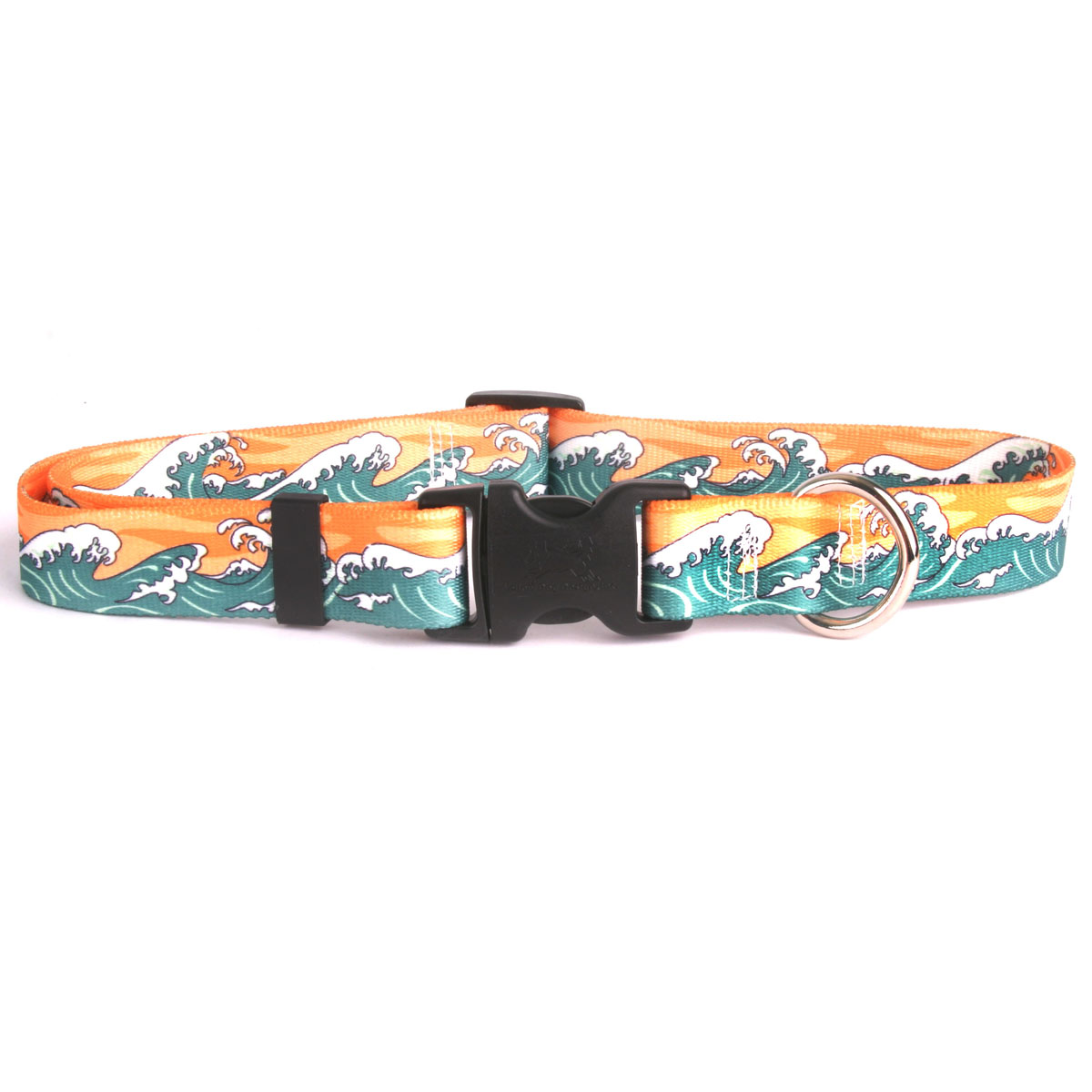 Mystic Waves Orange Standard Collar