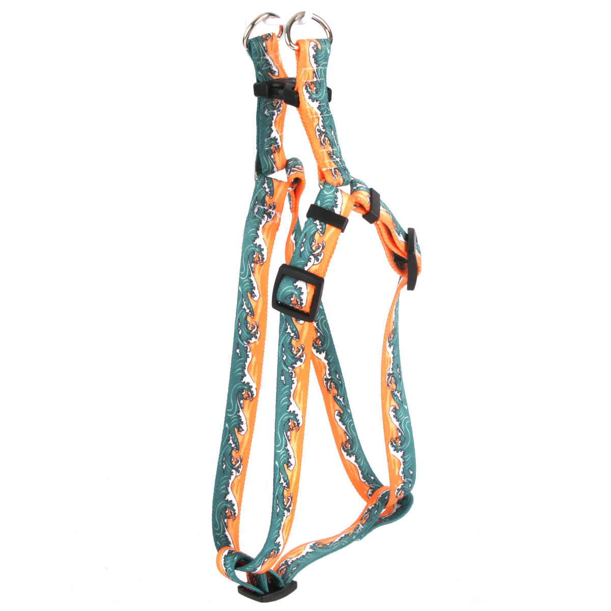 Mystic Waves Orange Step-In Harness