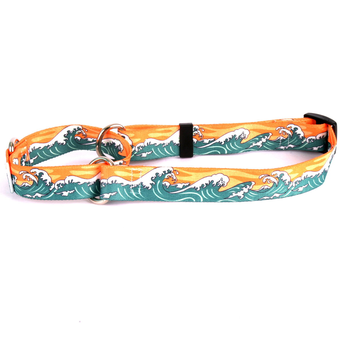 Mystic Waves Orange Martingale Collar