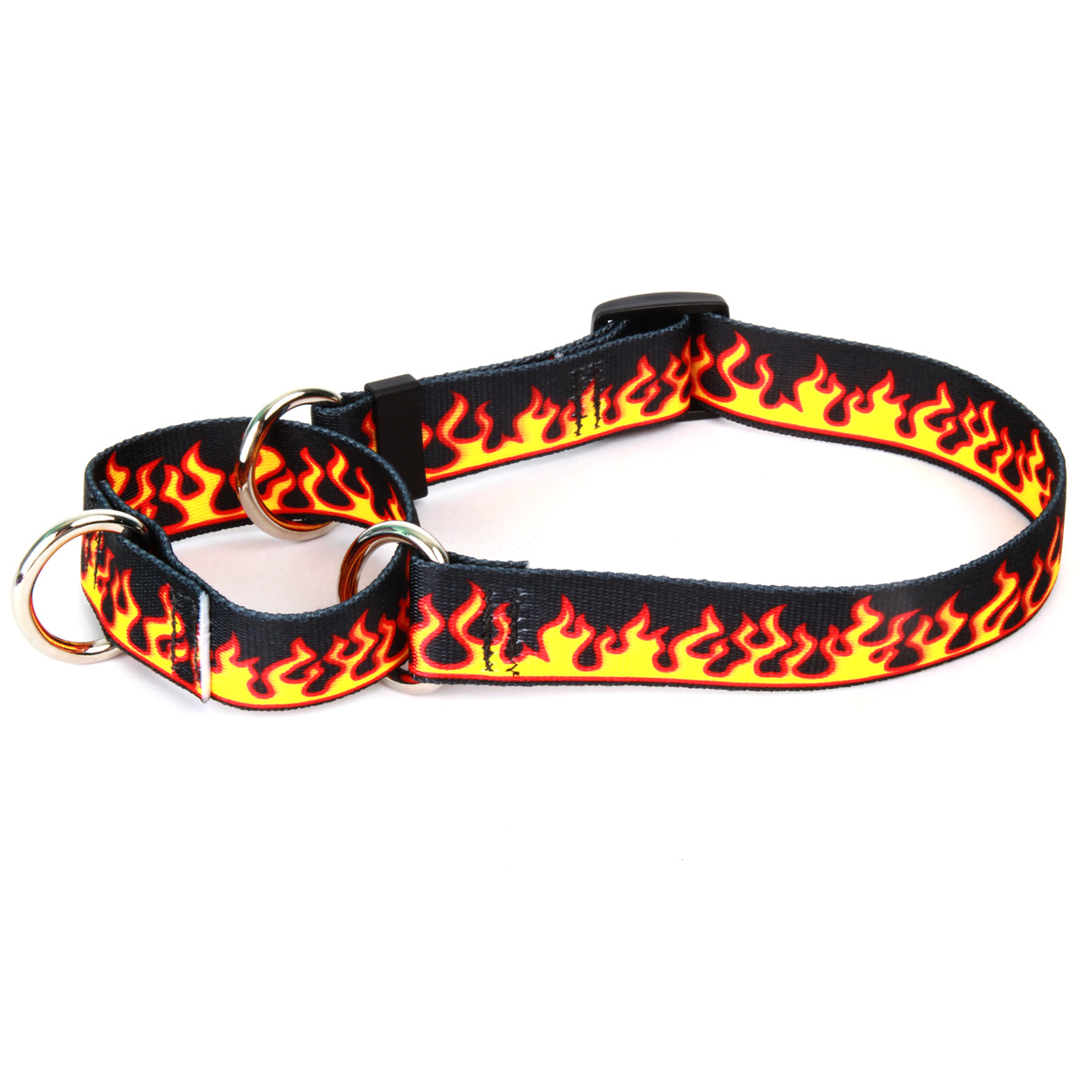 Red Flames Martingale Collar