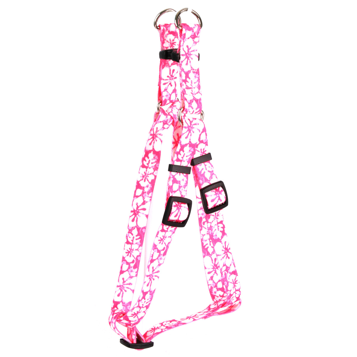 Island Floral Pink Step-In Harness