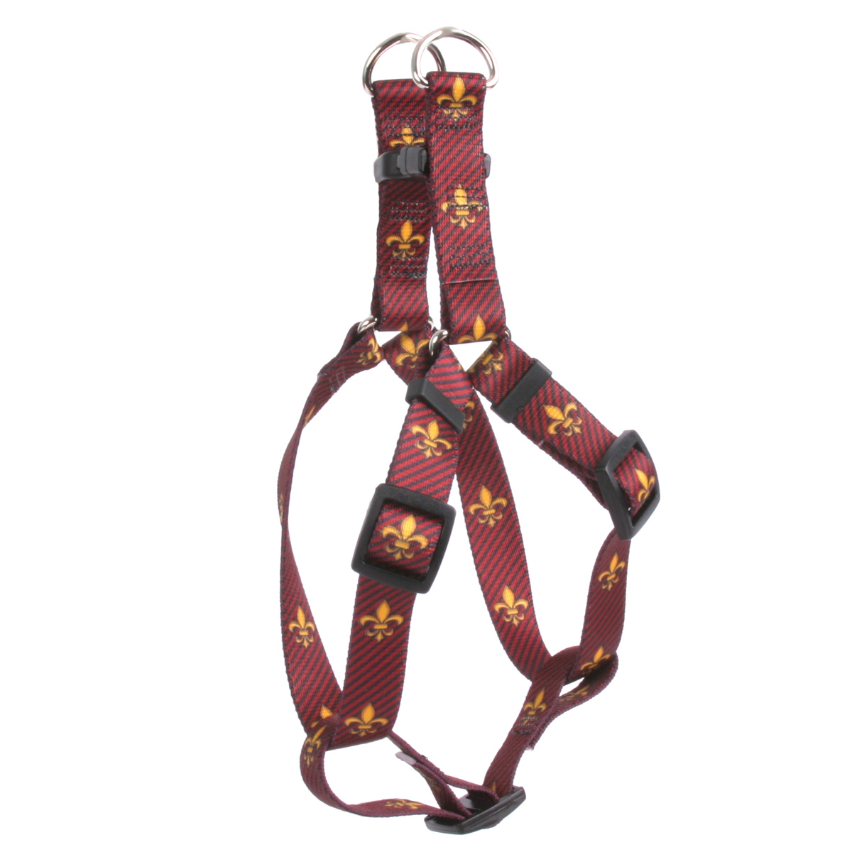 Fleur de Lis Red Step-In Harness