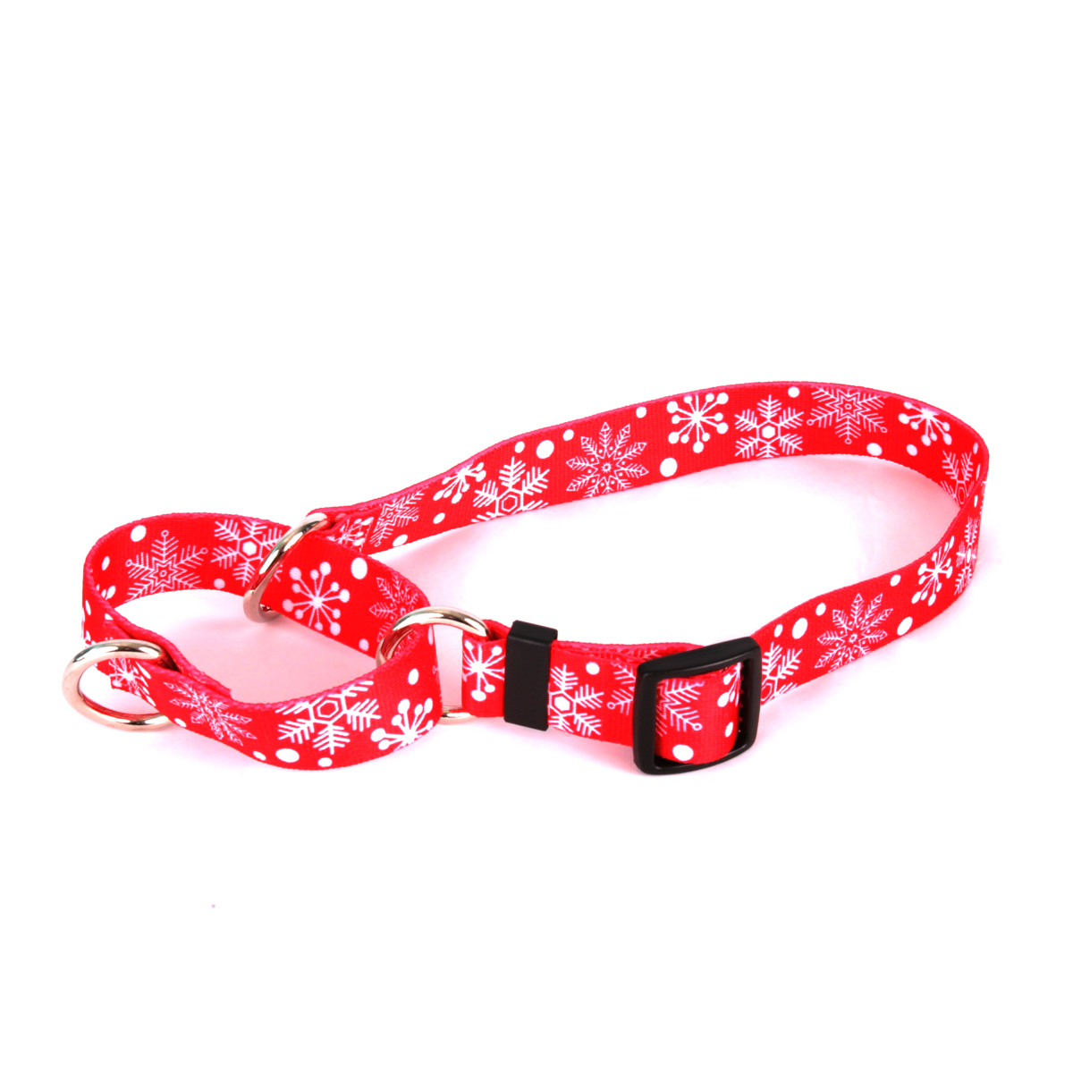 Red Snowflakes Martingale Collar