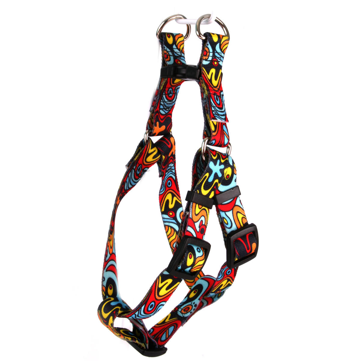 Abstract Step-In Harness