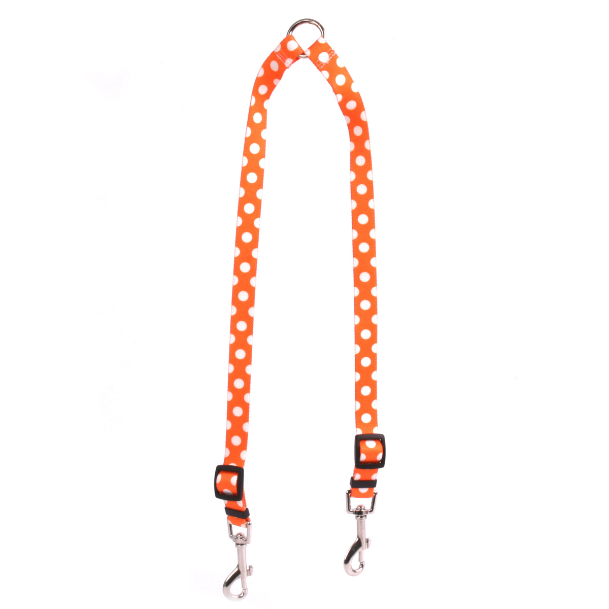 Tangerine Polka Dot Coupler Lead