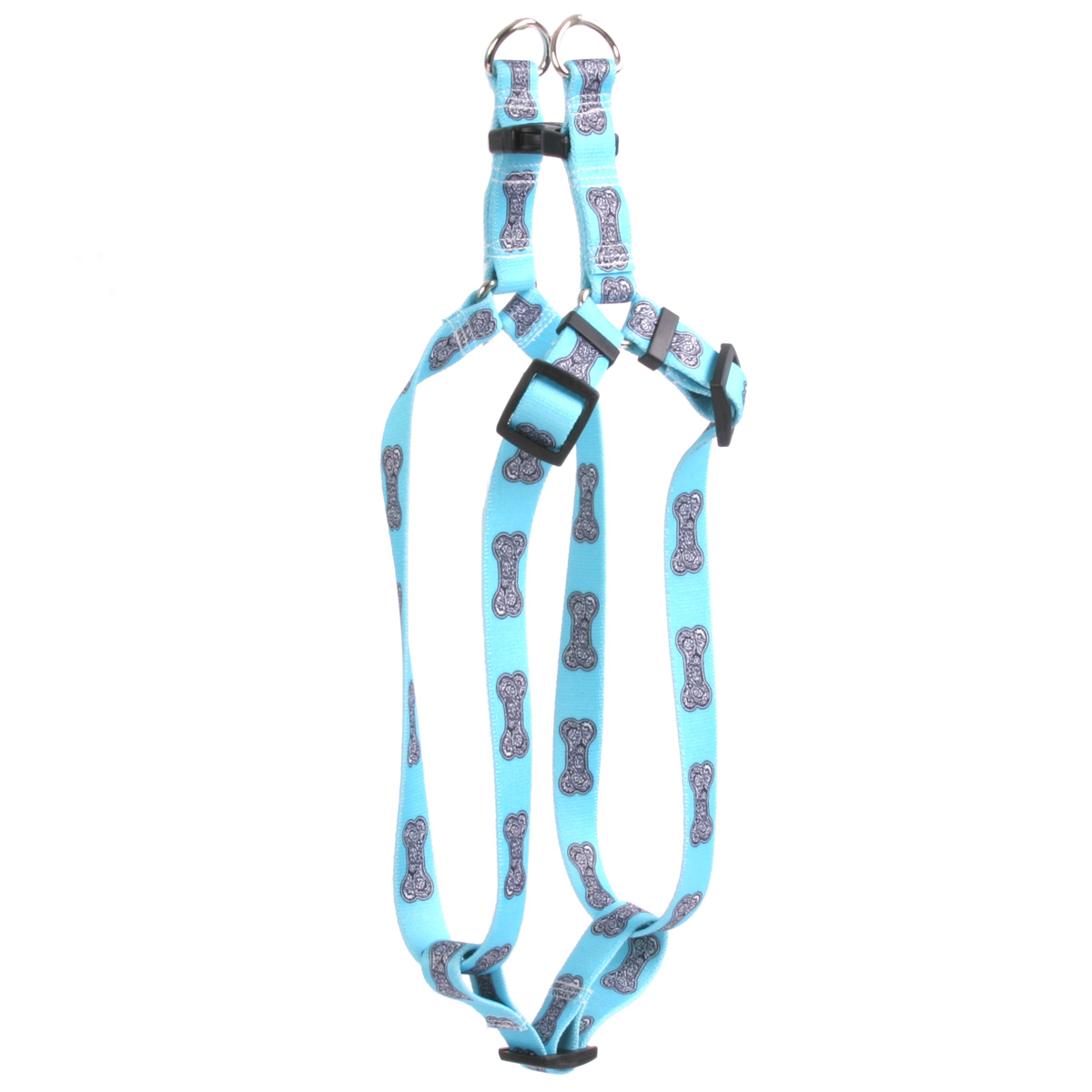 Bella Bone Blue Step-In Harness