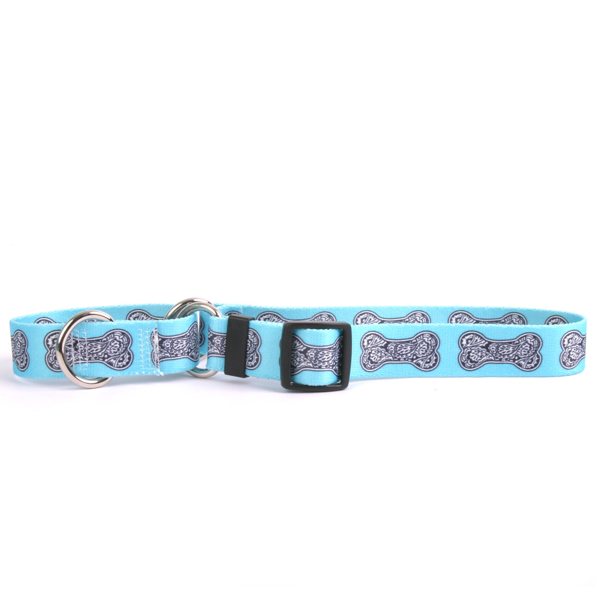 Bella Bone Blue Martingale Collar