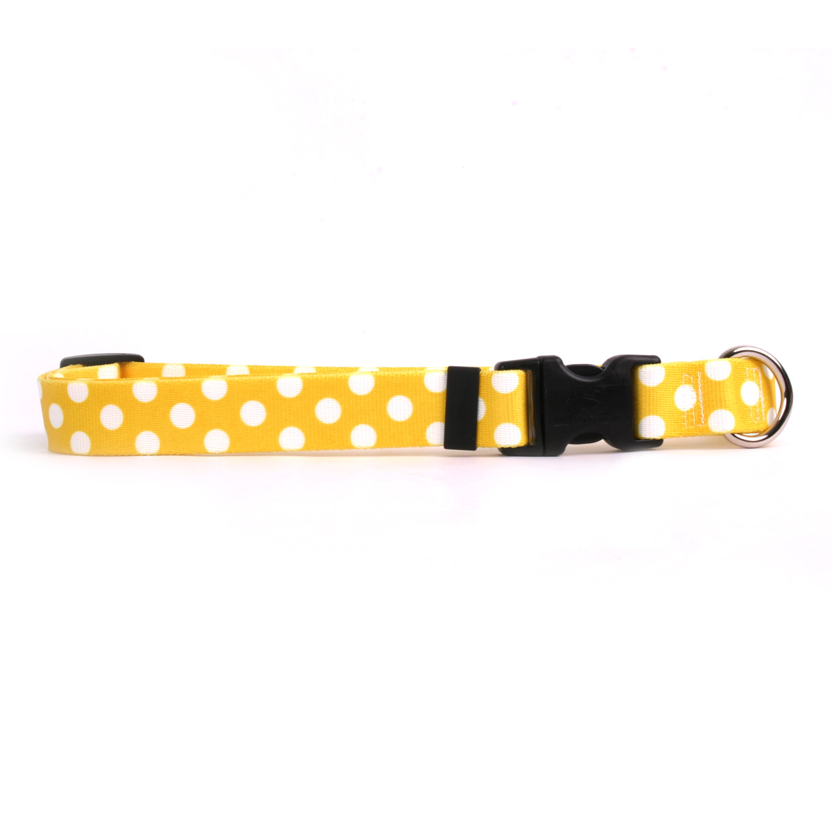 Lemon Polka Dot Standard Collar