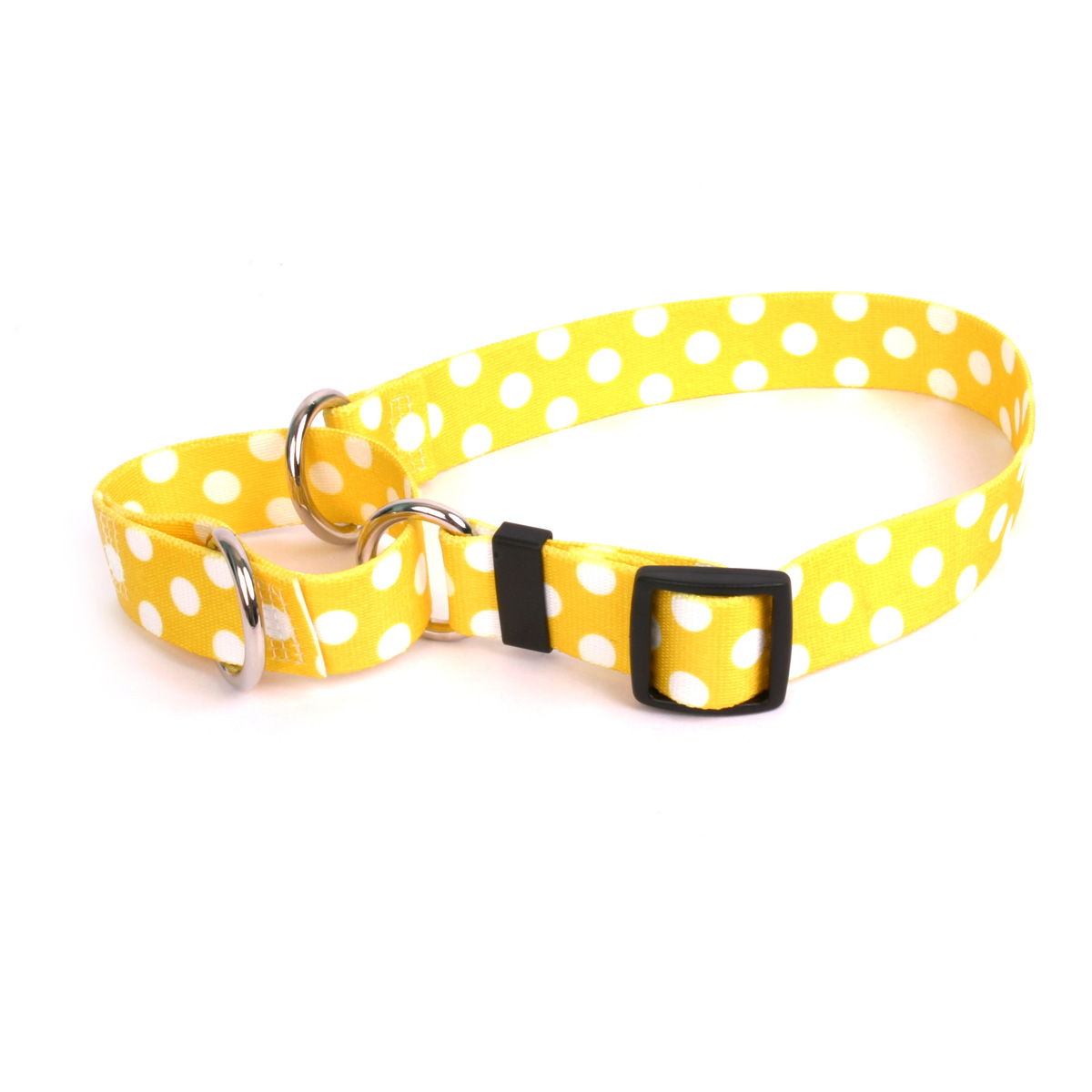Lemon Polka Dot Martingale Collar
