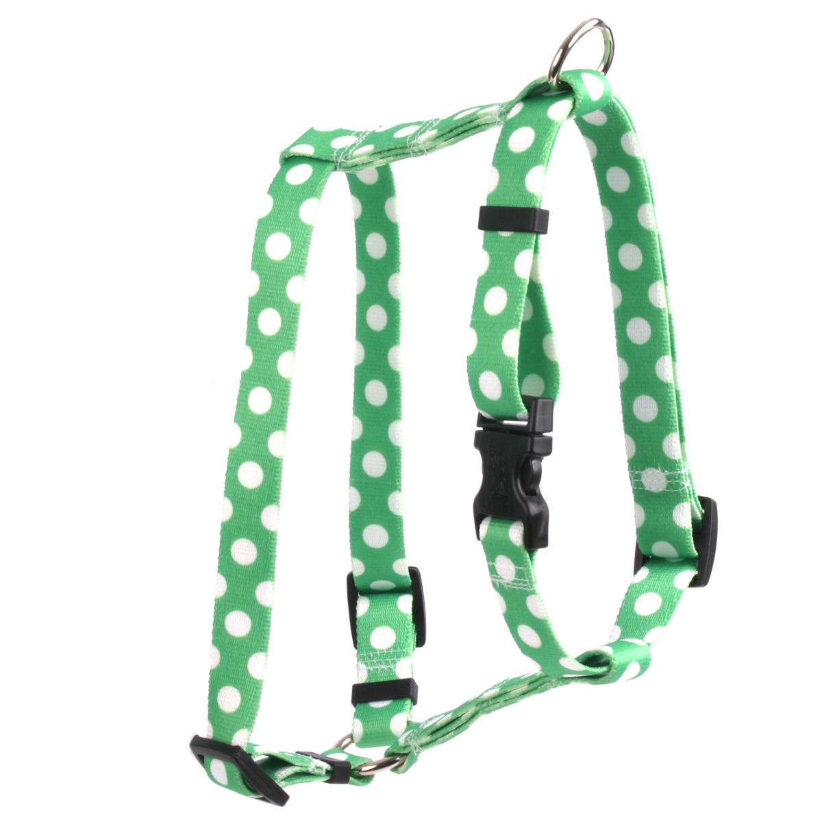Lime Polka Dot Roman H Harness