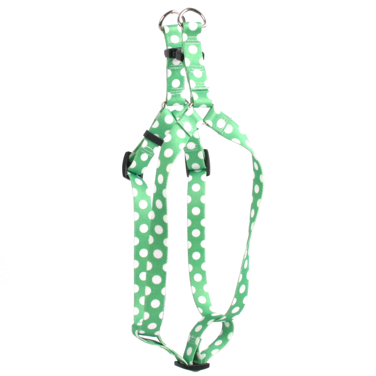 Lime Polka Dot Step-In Harness