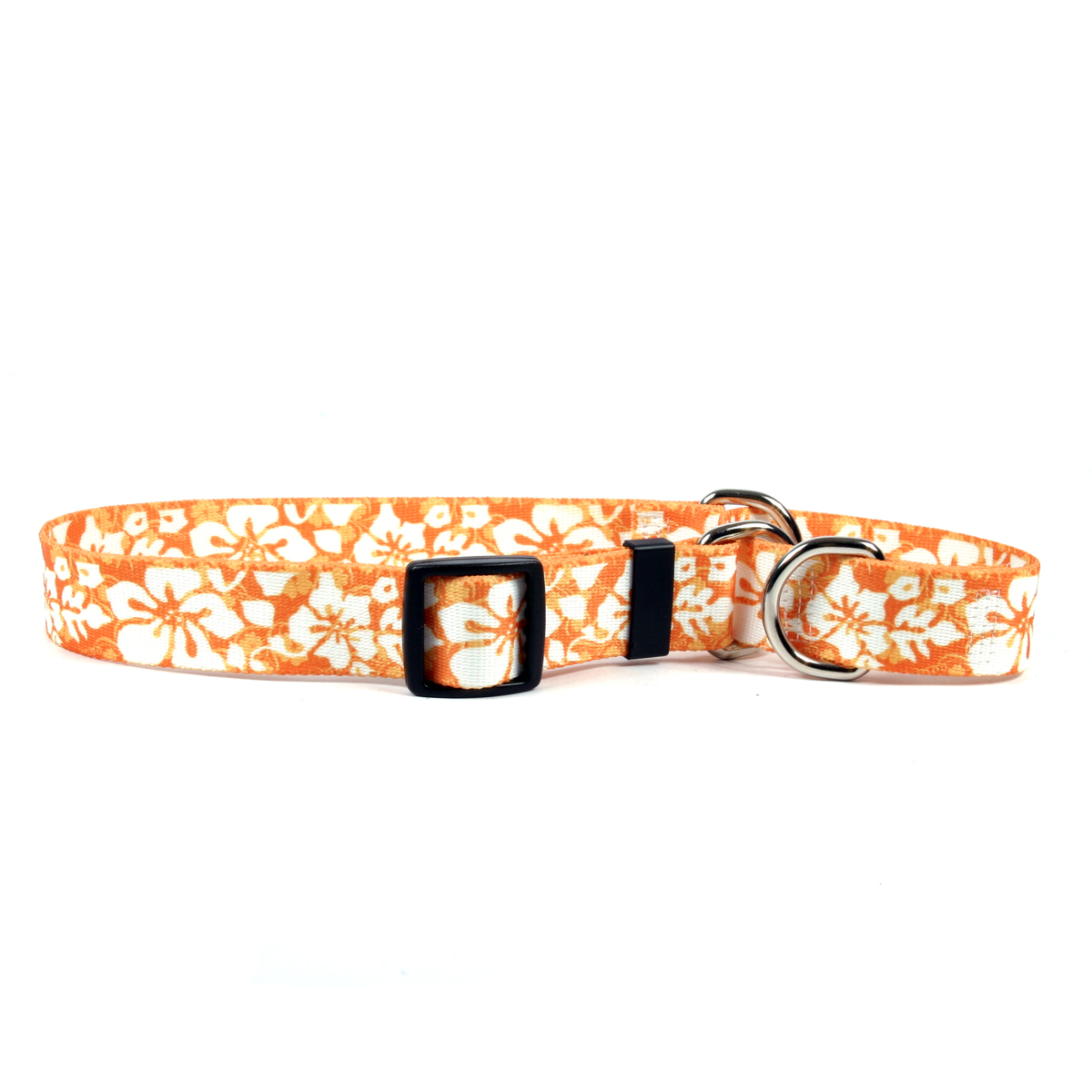 Island Floral Orange Martingale Collar