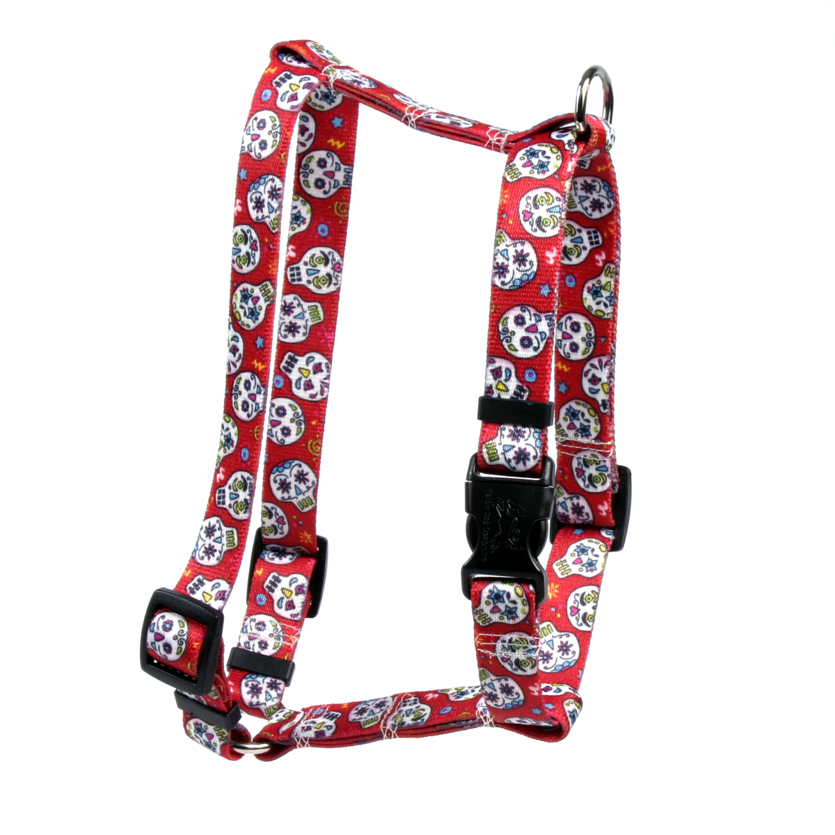 Sugar Skulls Red Roman H Harness