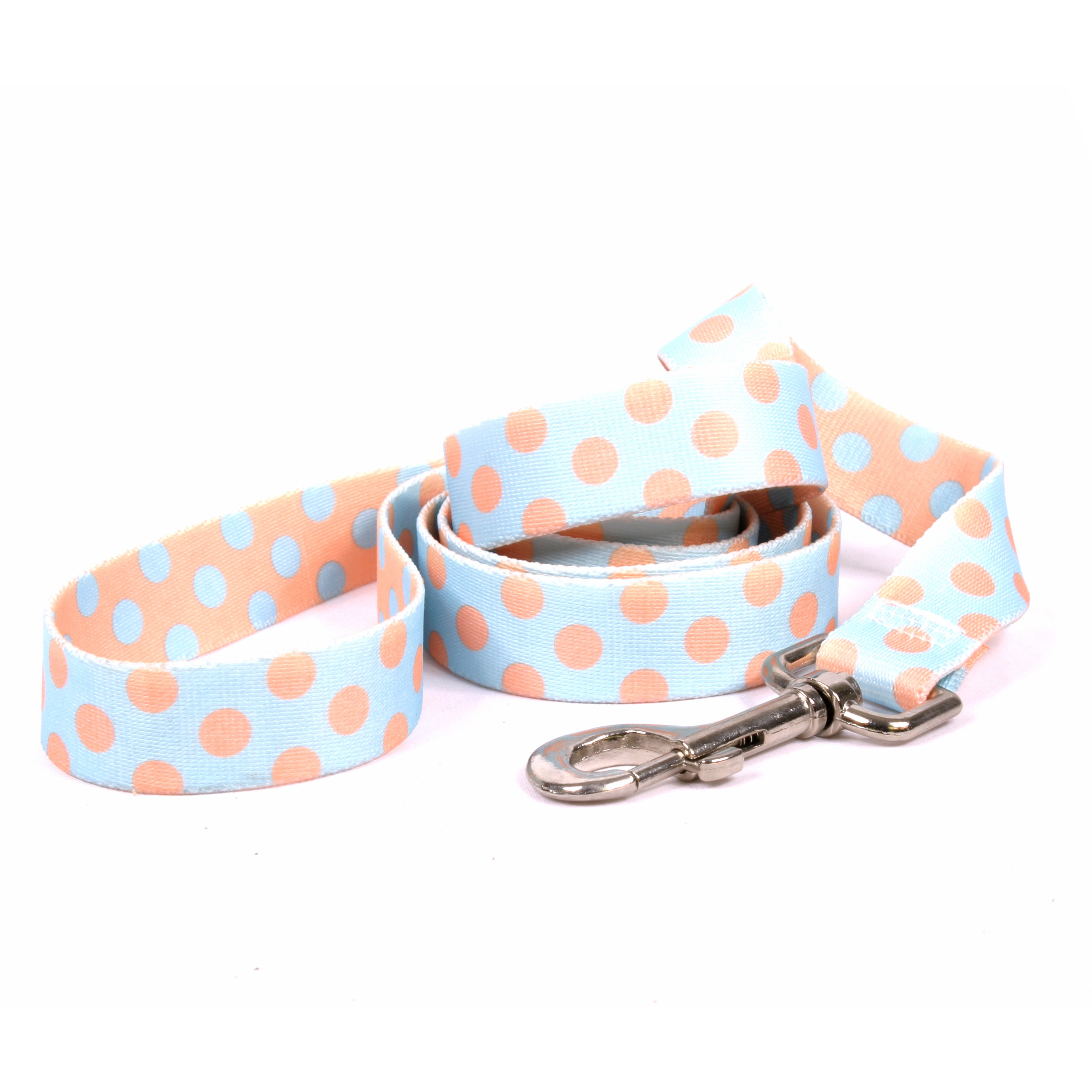 Blue and Melon Polka Dot Lead
