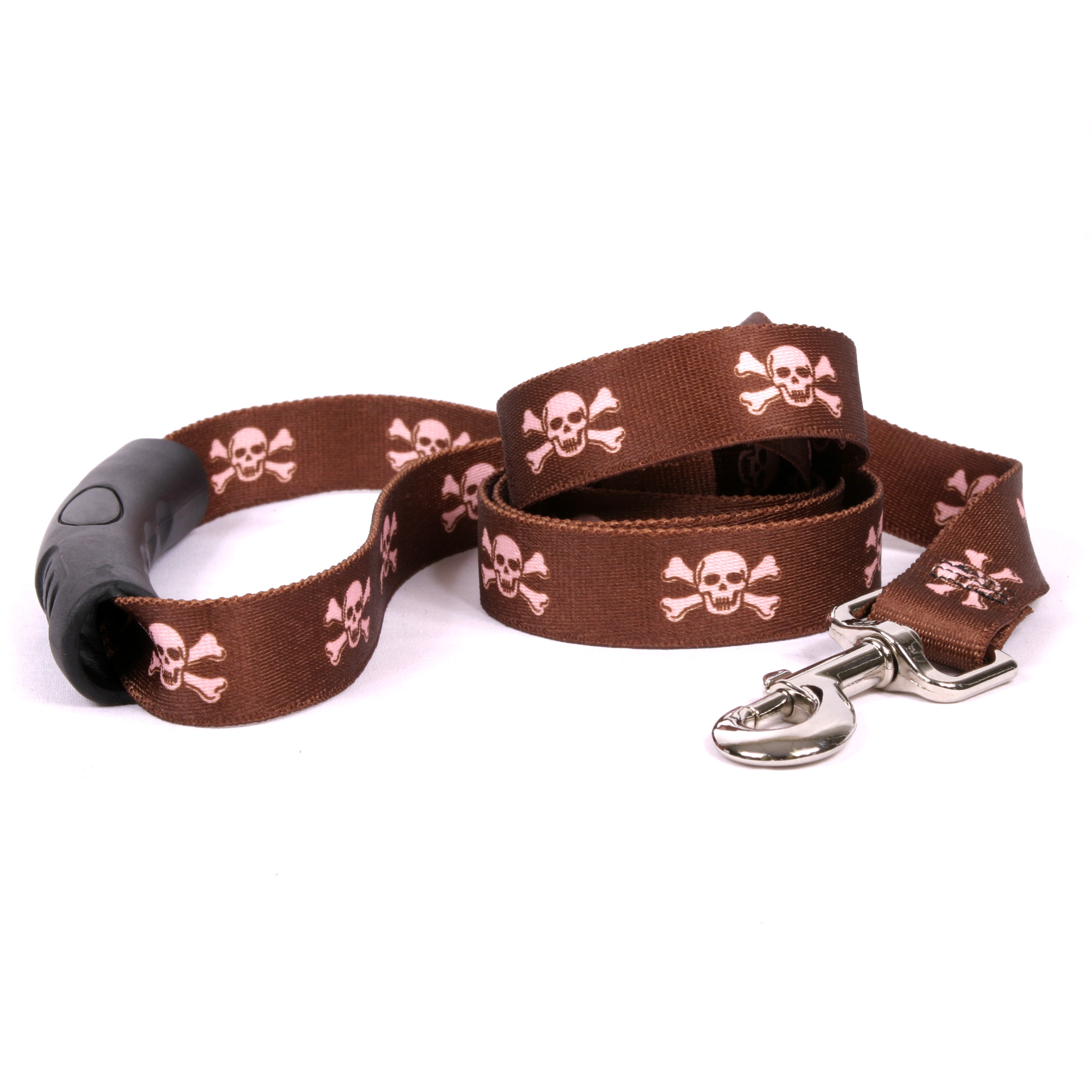 Brown and Pink Skulls EZ-Lead