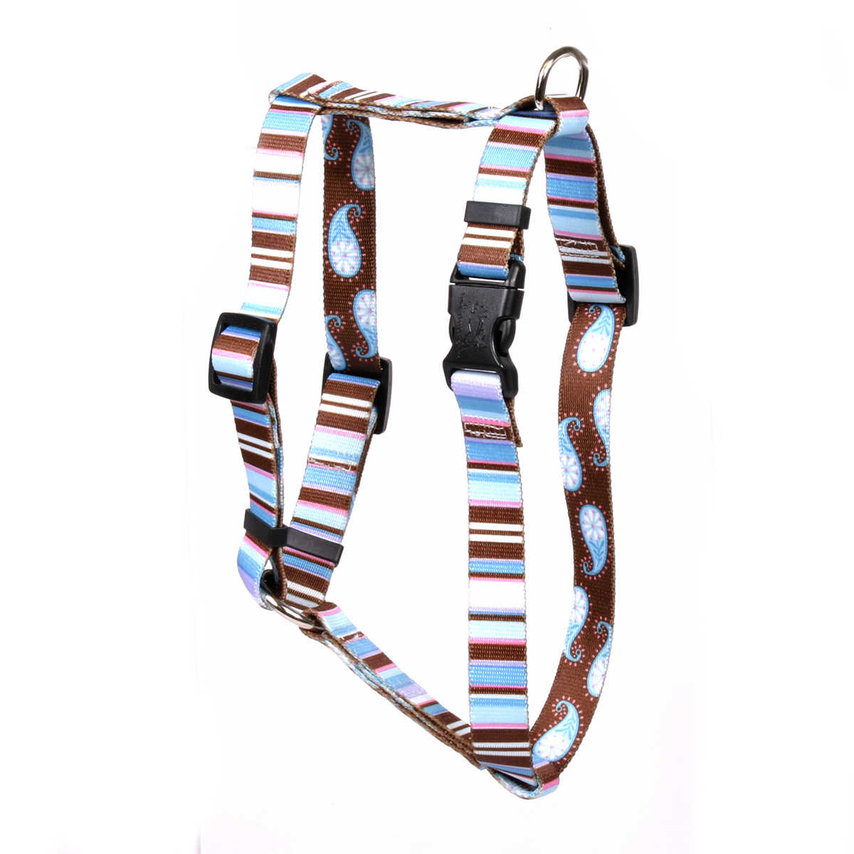 Brown Stripes Roman H Harness