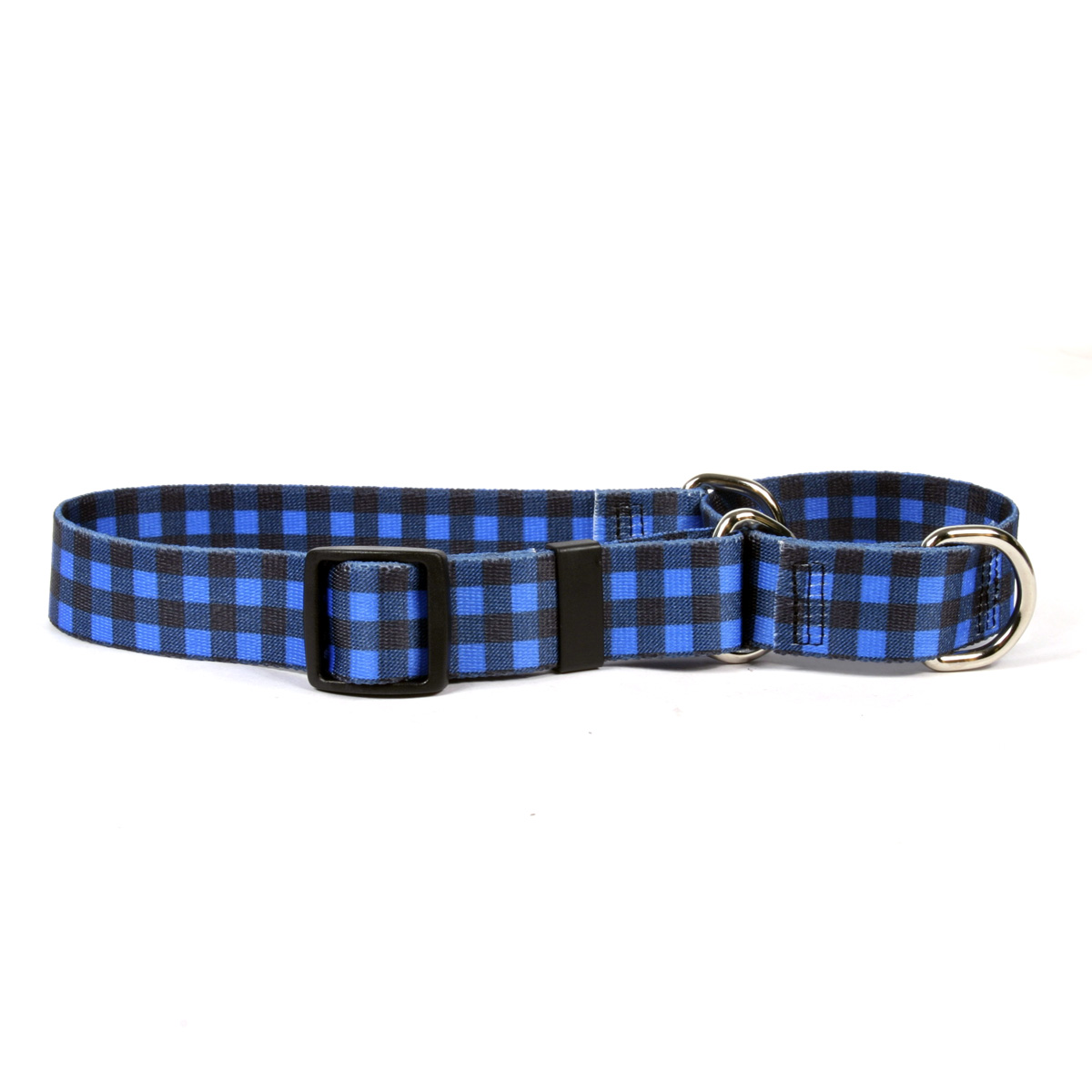 Buffalo Plaid Blue Martingale Collar