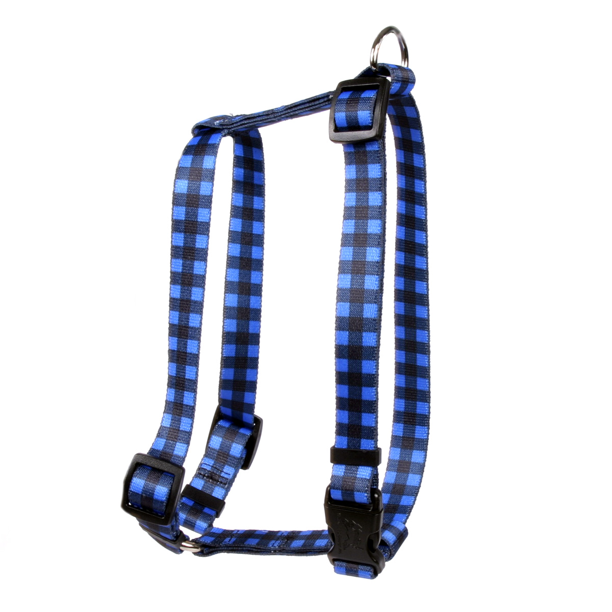 Buffalo Plaid Blue Roman H Harness