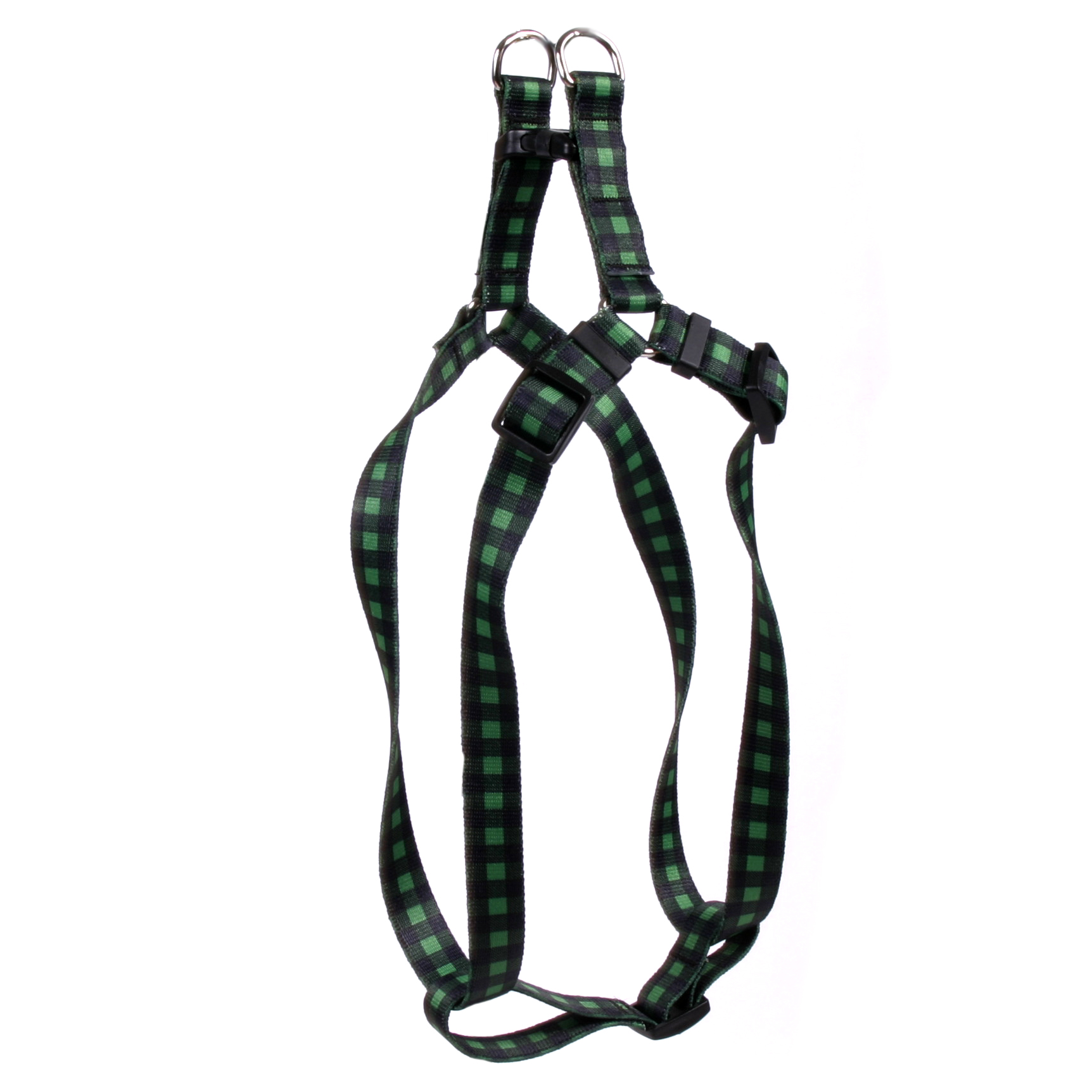 Buffalo Plaid Green Step-In Harness