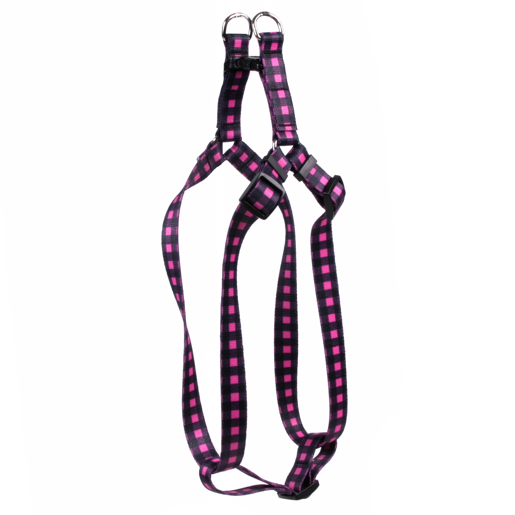 Buffalo Plaid Pink Step-In Harness